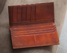 手染めコードバン財布