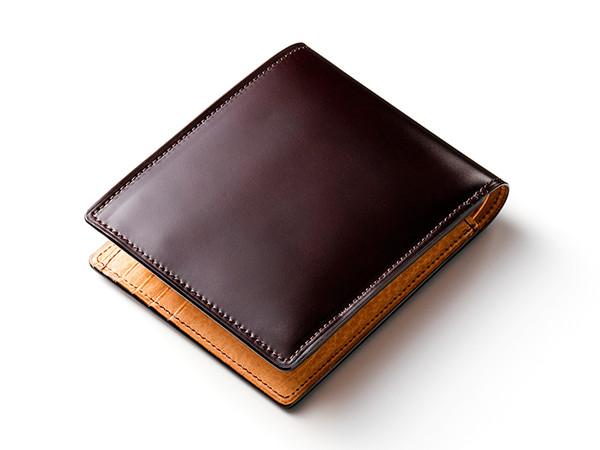 マイスターコードバン二つ折り財布「ラスティング」